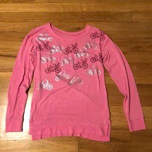 Justice pink bicycle bike shirt size 12